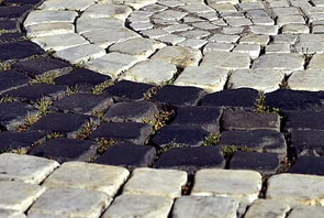 adoquines de piedra en piso exterior