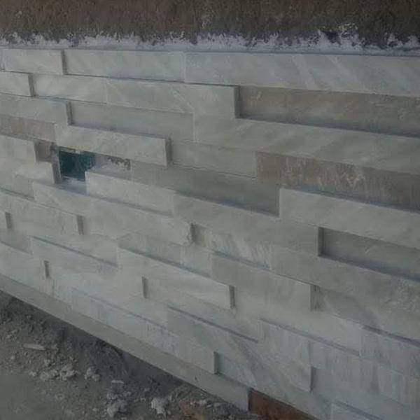 instalacion de lingotes de piedra