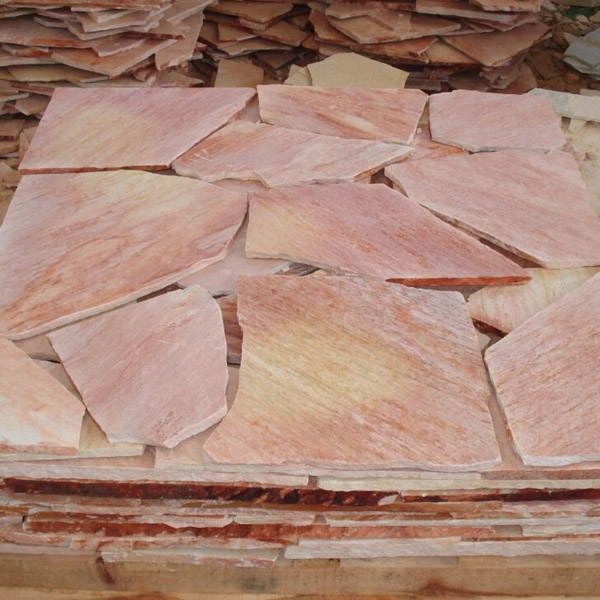 Piedra laja cuarcita rosada portada