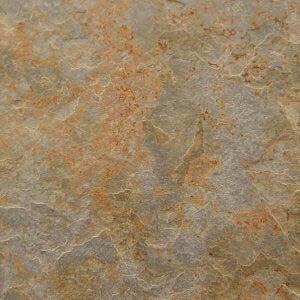 Palmeta de piedra pizarra multicolor oxidada