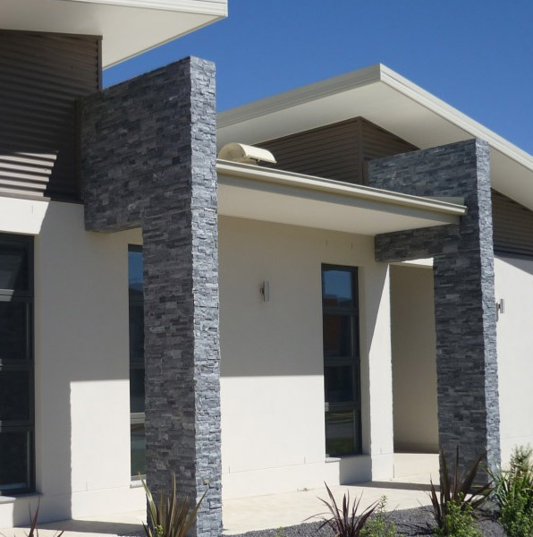 Casa moderna enchapada con cuarzo