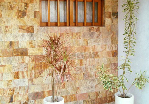 gneis oxidado revestimiento para muro