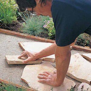 armarlos en suelo para aprender instalar piedra laja