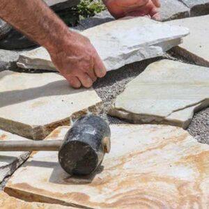 formar dibujos con piedra laja