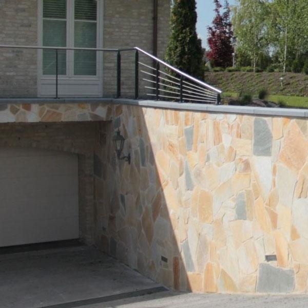mezcla en instalacion de piedras rusticas