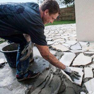 como cortar piedra laja